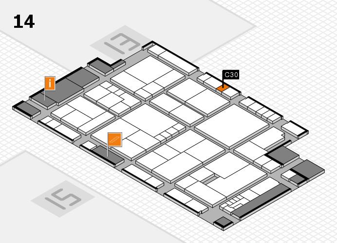 K 2016 hall map (Hall 14): stand C30