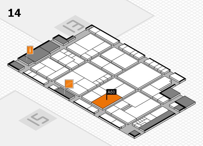 K 2016 hall map (Hall 14): stand A60