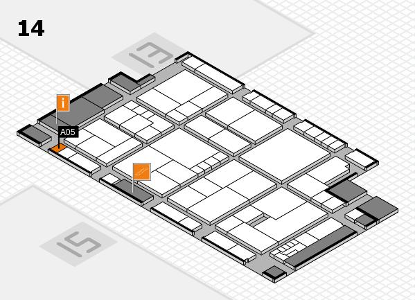 K 2016 hall map (Hall 14): stand A05