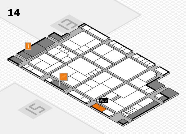 K 2016 hall map (Hall 14): stand A55