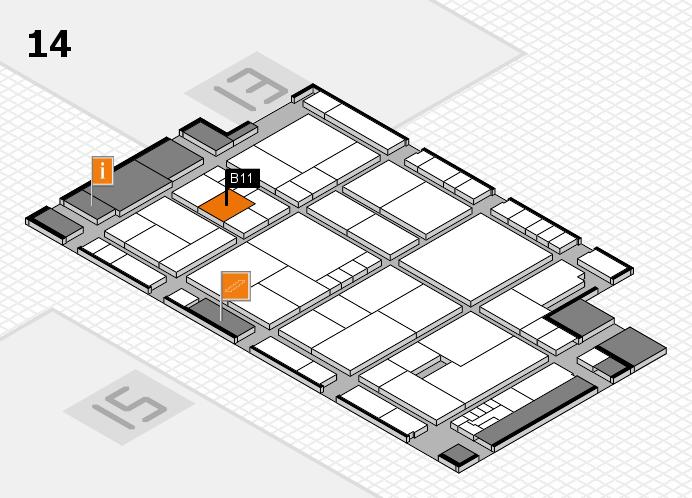 K 2016 hall map (Hall 14): stand B11
