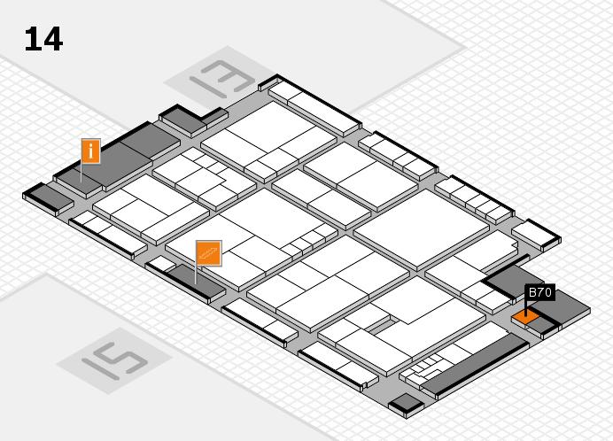 K 2016 hall map (Hall 14): stand B70