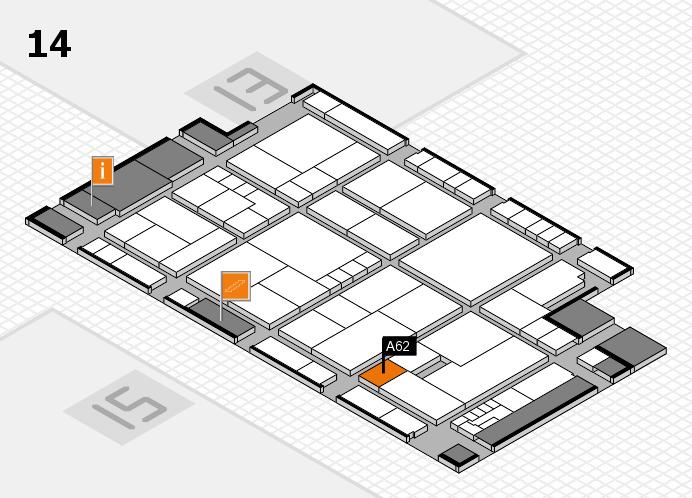 K 2016 hall map (Hall 14): stand A62