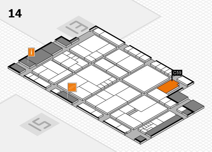K 2016 hall map (Hall 14): stand C59