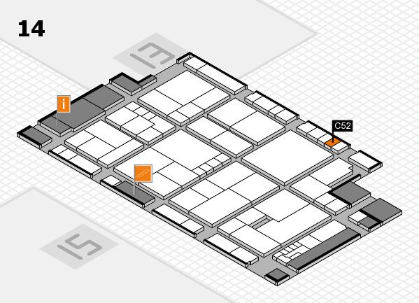 K 2016 hall map (Hall 14): stand C52