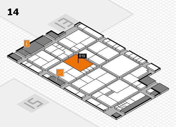 K 2016 hall map (Hall 14): stand B19