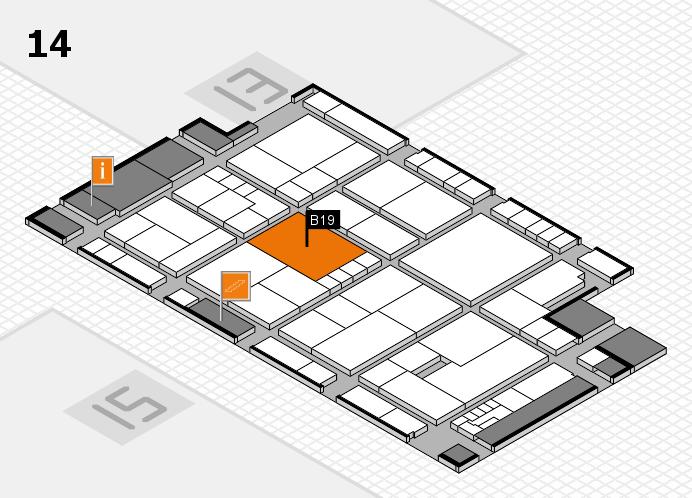K 2016 Hallenplan (Halle 14): Stand B19