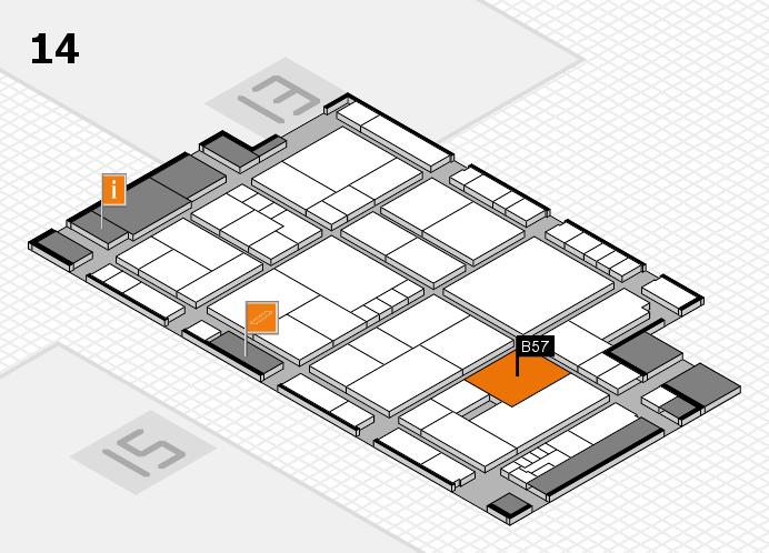 K 2016 hall map (Hall 14): stand B57