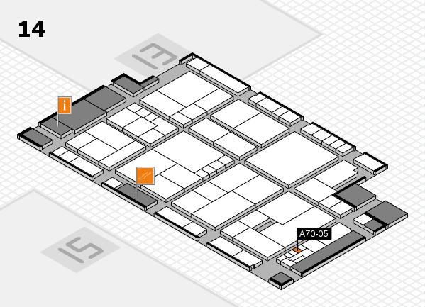 K 2016 Hallenplan (Halle 14): Stand A70-05