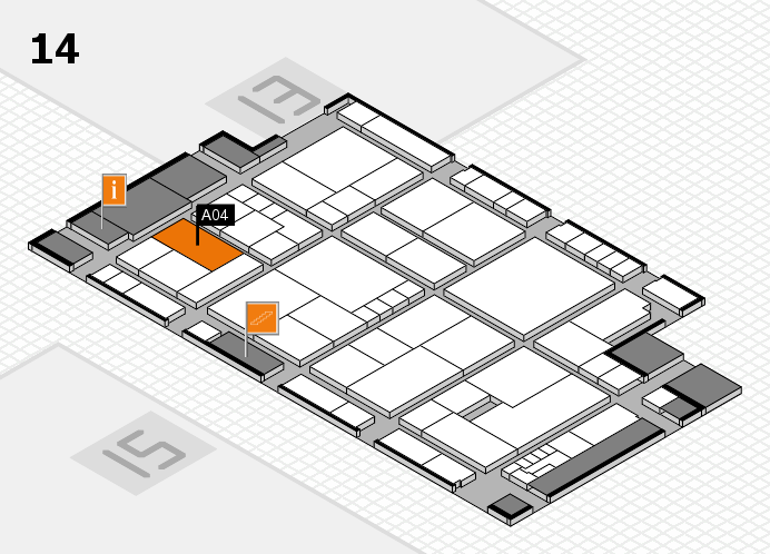 K 2016 Hallenplan (Halle 14): Stand A04