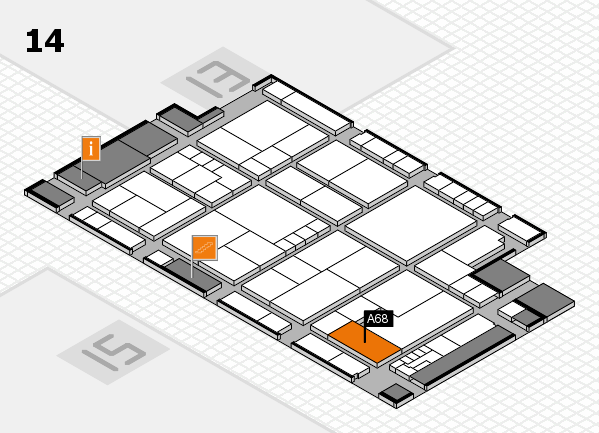 K 2016 Hallenplan (Halle 14): Stand A68
