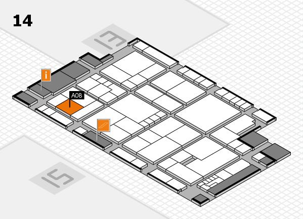 K 2016 Hallenplan (Halle 14): Stand A08