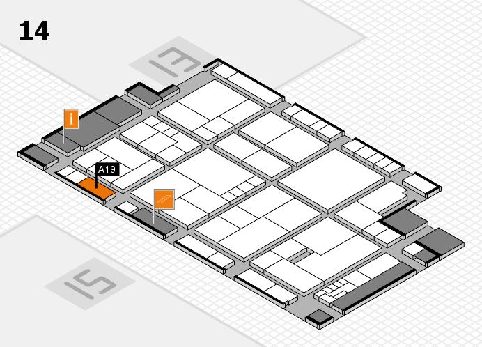 K 2016 hall map (Hall 14): stand A19