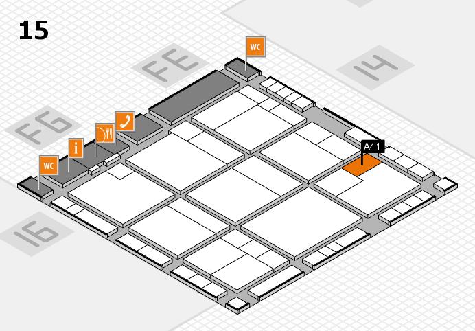 K 2016 hall map (Hall 15): stand A41