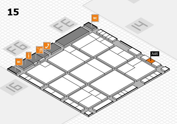 K 2016 hall map (Hall 15): stand A46