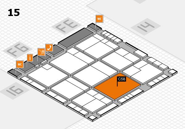 K 2016 hall map (Hall 15): stand C58