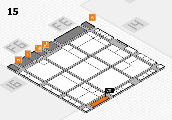 K 2016 hall map (Hall 15): stand C61