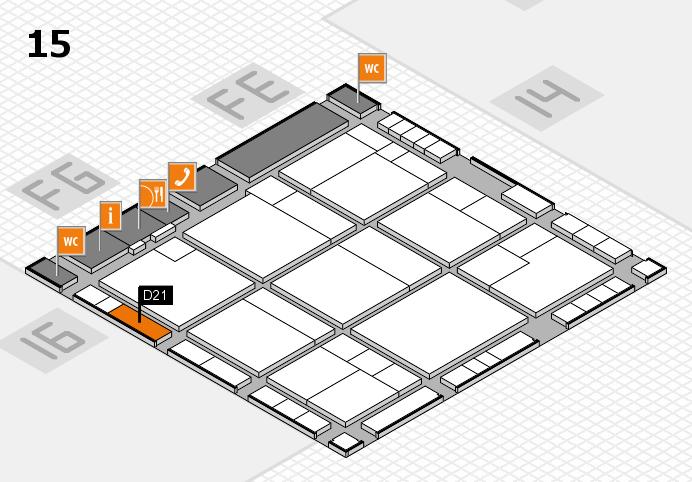 K 2016 hall map (Hall 15): stand D21