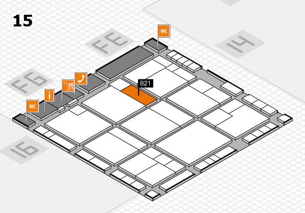 K 2016 Hallenplan (Halle 15): Stand B21