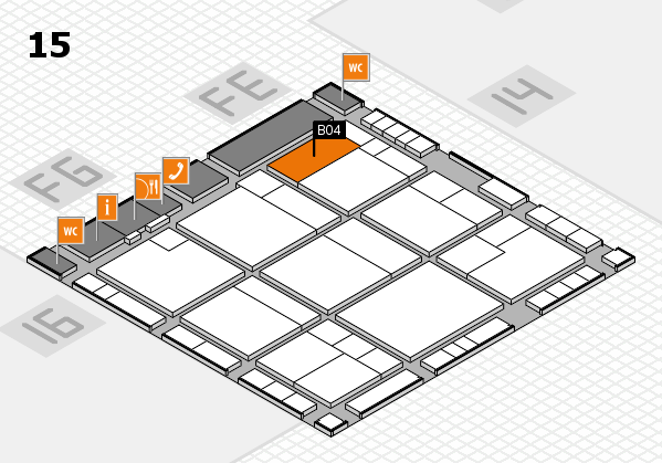 K 2016 Hallenplan (Halle 15): Stand B04