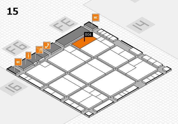 K 2016 hall map (Hall 15): stand B04