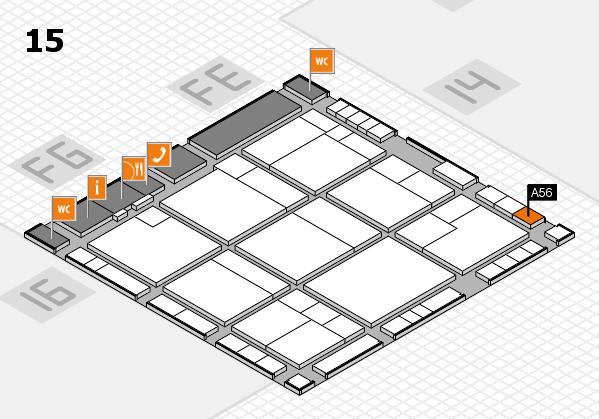 K 2016 hall map (Hall 15): stand A56