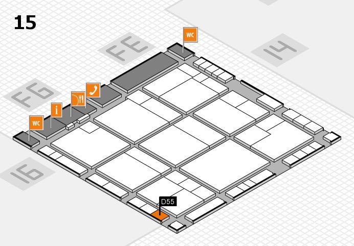 K 2016 hall map (Hall 15): stand D55