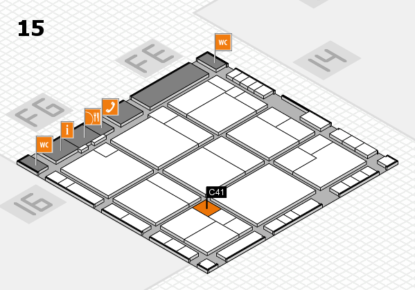 K 2016 Hallenplan (Halle 15): Stand C41