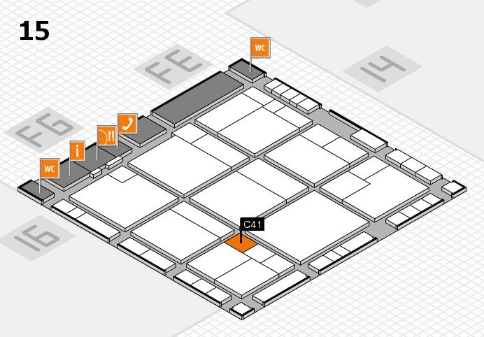 K 2016 hall map (Hall 15): stand C41