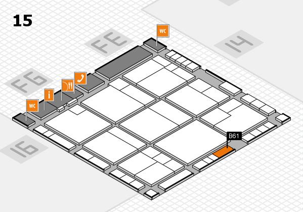 K 2016 Hallenplan (Halle 15): Stand B61