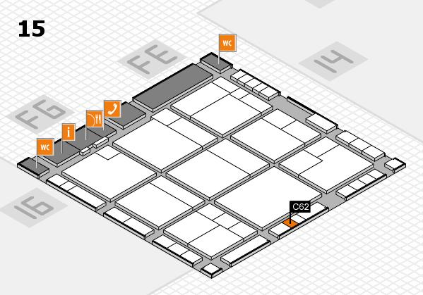 K 2016 hall map (Hall 15): stand C62