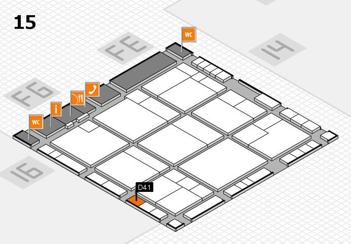 K 2016 hall map (Hall 15): stand D41