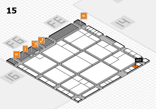K 2016 hall map (Hall 15): stand A63