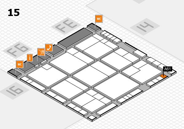 K 2016 hall map (Hall 15): stand A61