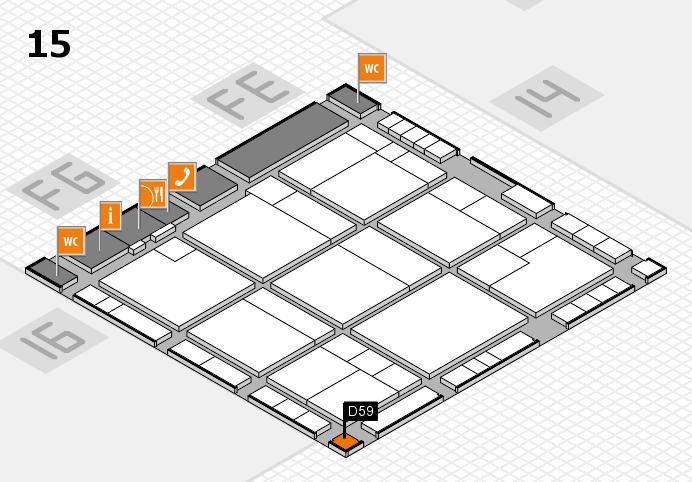 K 2016 hall map (Hall 15): stand D59