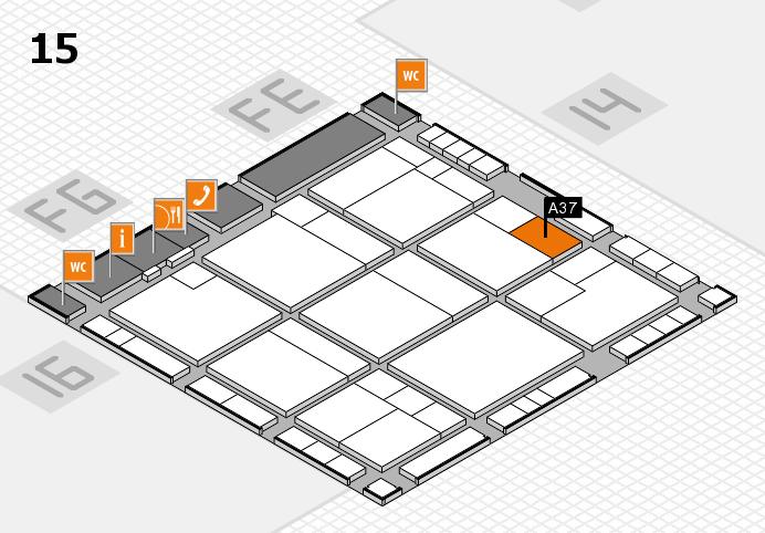 K 2016 hall map (Hall 15): stand A37