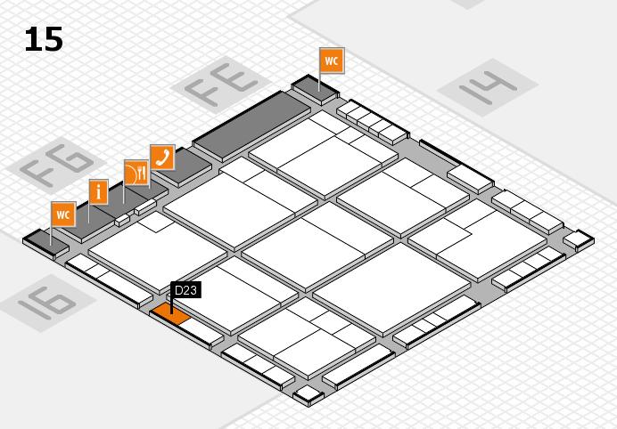K 2016 hall map (Hall 15): stand D23