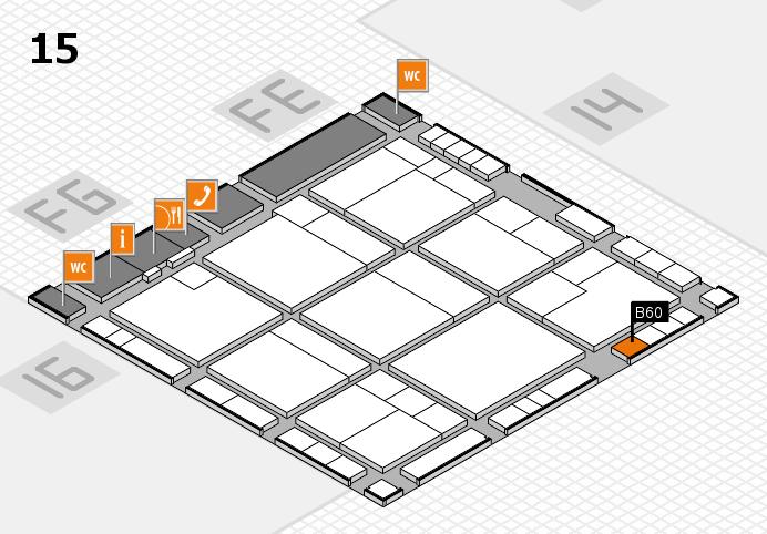 K 2016 hall map (Hall 15): stand B60