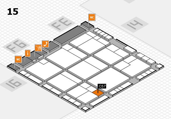 K 2016 hall map (Hall 15): stand C57