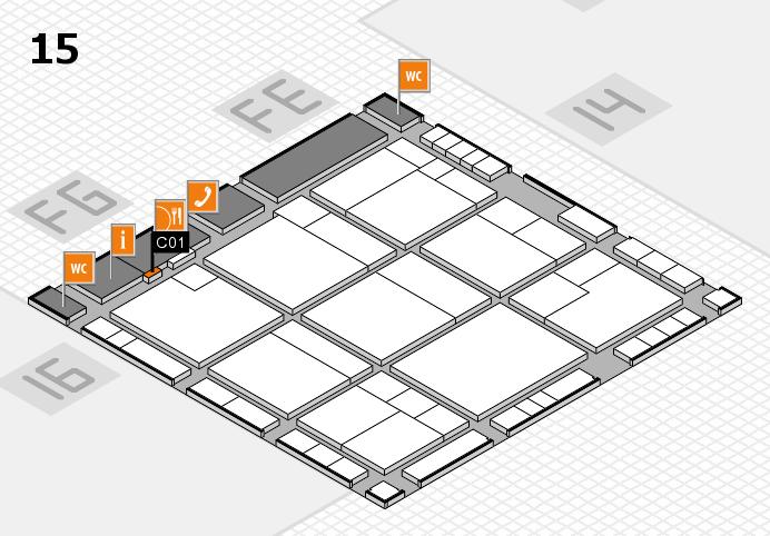 K 2016 hall map (Hall 15): stand C01