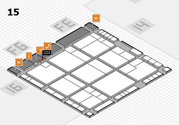 K 2016 hall map (Hall 15): stand C03
