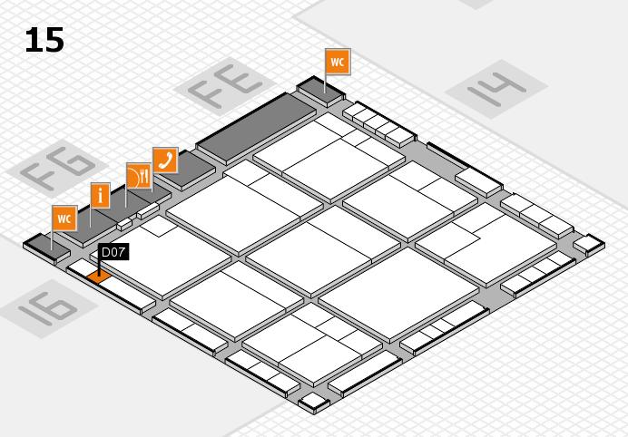 K 2016 hall map (Hall 15): stand D07