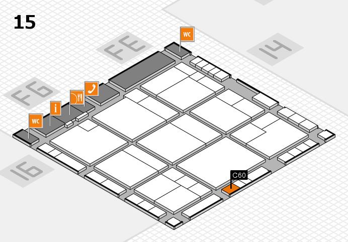 K 2016 hall map (Hall 15): stand C60