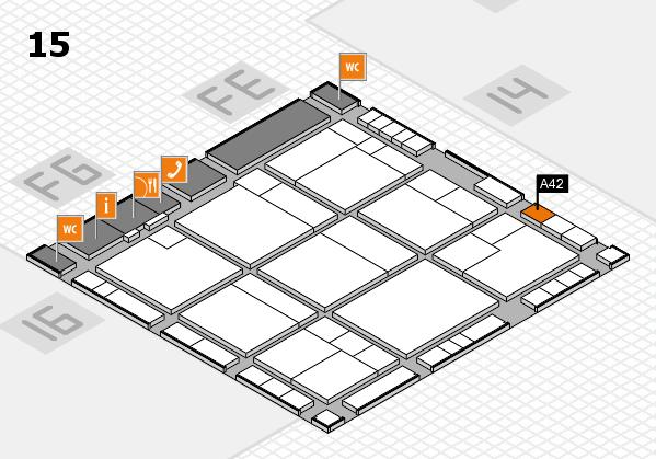 K 2016 Hallenplan (Halle 15): Stand A42