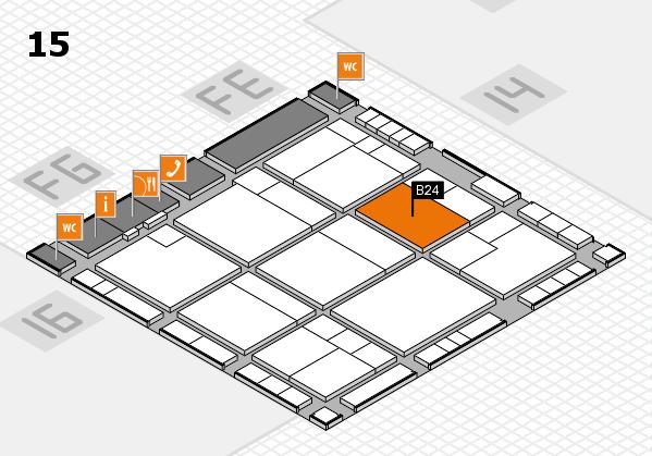 K 2016 hall map (Hall 15): stand B24