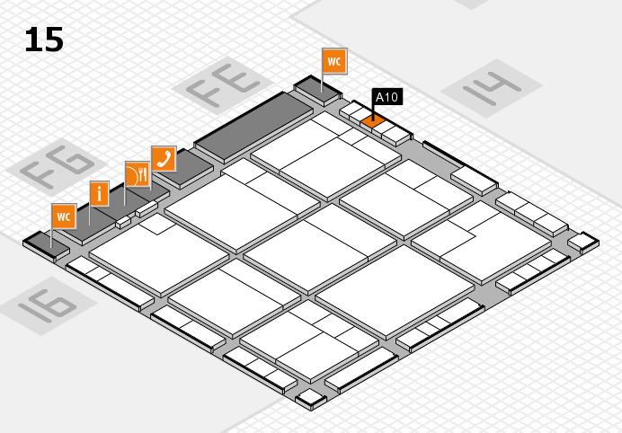 K 2016 hall map (Hall 15): stand A10