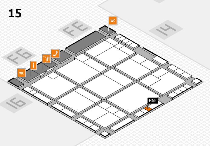 K 2016 hall map (Hall 15): stand B59