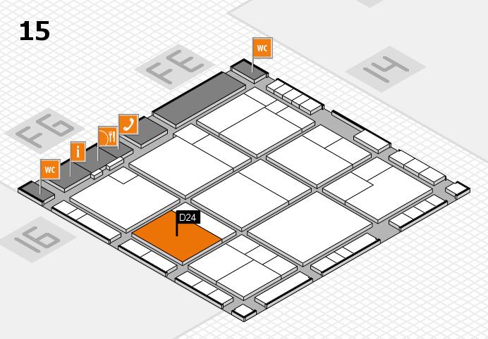 K 2016 hall map (Hall 15): stand D24