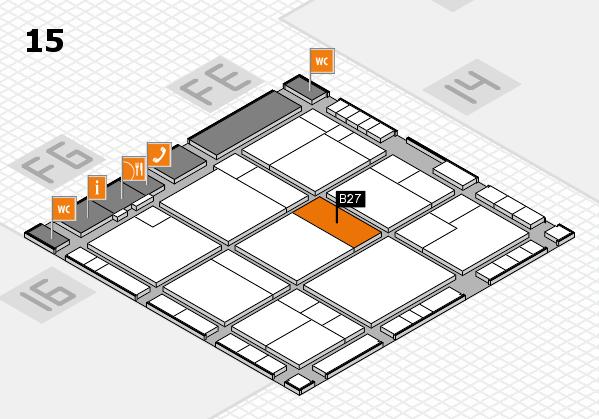 K 2016 hall map (Hall 15): stand B27