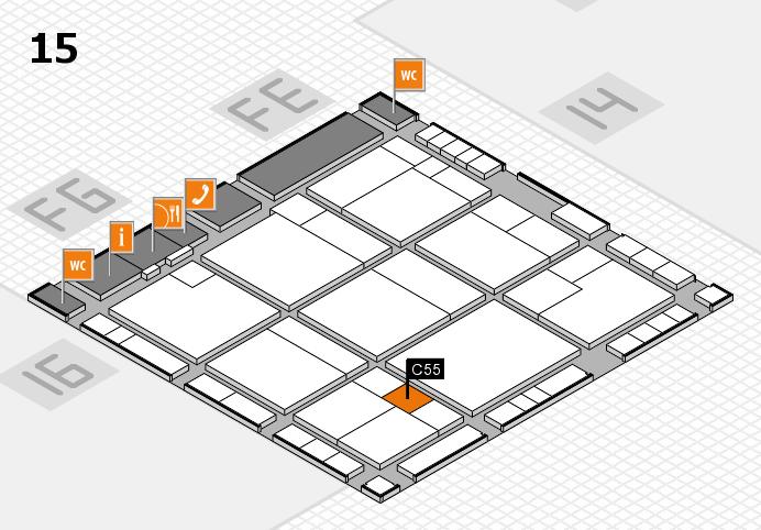 K 2016 hall map (Hall 15): stand C55